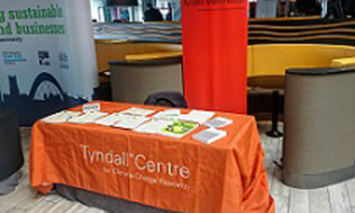 Tyndall Manchester's stand at this year's Green Summit